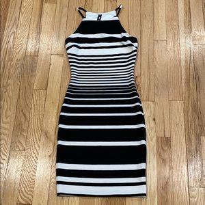 Design Lab Lord & Taylor strip midi Dress